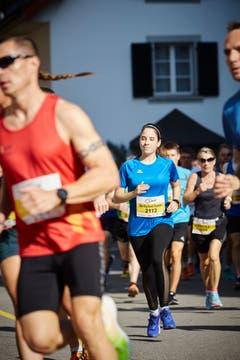 Tanja Mühlemann von den «The Big Bank Runners» (Bild: Jakob Ineichen, Willisau, 21. September 2019)