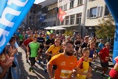 Start zum Willisauerlauf. (Bild: Jakob Ineichen, Willisau, 21. September 2019)
