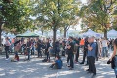 Impressionen vom Spange-Nord-Fest beim Musikpavillon in Luzern. (Bild: Boris Bürgisser, Luzern, 21. September 2019)