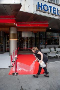 Der rote Teppich ist ausgerollt. (Bild: Urs Bucher)