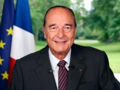 Jacques Chirac bei seinem Abschied aus dem Elyséepalast im Jahr 2007. (Bild: KEYSTONE/AP AFP POOL/PATRICK KOVARIK)