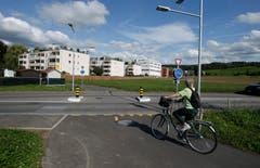 Kreuzung Radweg Lauriedhofweg / Göblistrasse (Bild: Stefan Kaiser, Zug, 28. September 2019)