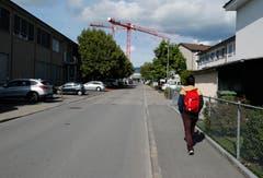 Die Oberallmendstrasse (Bild: Stefan Kaiser, Zug, 28. September 2019)