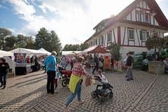 Tollstes Wetter am Brogge-Märt (Brückenmarkt) beim Zoll-Huus in Hünenberg.