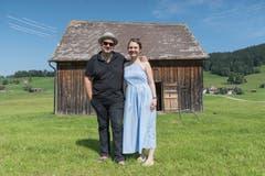 Im Schopf Nummer 1 unterhalb des Schützenhauses ist eine Klangcollage aus dem Dorf Gais von Jazzmusiker Georg Breinschmid und Fotografin Theresa Pewal zu hören und zu sehen. (Bild: Lisa Jenny - 28. August 2019)