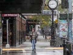 Im September frieren wie im Dezember: Ein Winter- und Kälteeinbruch hat die Bewohner im US-Bundesstaat Montana überrascht. (Bild: KEYSTONE/AP The Missoulian/BEN ALLAN SMITH)