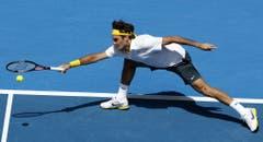 2011: Viertelfinal Australian Open: Federer s. Wawrinka 6:1, 6:3, 6:3Ohne Probleme und auch ohne Satzverlust rauscht Stan Wawrinka durch das erste Grand-Slam-Turnier des Jahres, wo seine Reise ein jähes Ende findet. Roger Federer siegt in 1 Stunde und 47 Minuten und glatt in drei Sätzen. Im Halbfinal unterliegt er Novak Djokovic. (Bild: Keystone)