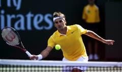 2011: Viertelfinal Indian Wells: Federer s. Wawrinka 6:3, 6:4Zum dritten Mal hintereinander kommt es zwischen den beiden Schweizern zu einem Viertelfinal-Duell. Am Ende lacht die Sonne für den in sonnengelb gekleideten Federer vom Himmel. Dennoch ist im Halbfinale gegen Djokovic Schluss. (Bild: Keystone)