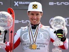 Medaillen und Pokale stehen für Marcel Hirscher ab sofort nicht mehr im Vordergrund (Bild: KEYSTONE/EPA/CHRISTIAN BRUNA)