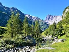 Herrliches Berg- und Wanderwetter in einer wunderschönen Naturlandschaft entlang der Engelberger Aa. (Bild: Urs Gutfleisch, 4. September 2019)