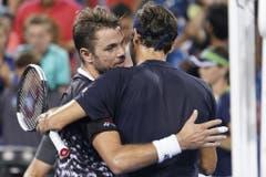 2018: Viertelfinal Cincinnati: Federer s. Wawrinka 6:7 (2:7), 7:6 (8:6), 6:2Neues Jahr, altes Bild: Stan Wawrinka, der aufgrund einer Verletzung auf Rang 151 abgerutscht war, forderte Federer lange, konnte dessen Halbfinal-Einzug am Ende dennoch nicht verhindern. (Bild: Keystone)