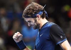 2015: Halbfinal ATP World Tour Finals: Federer s. Wawrinka 7:5, 6:3Einerseits ungewohnt, andererseits gewohnt: Ein ungewohnt bärtiger Roger Federer besiegt Stan Wawrinka erneut am Turnier der acht Jahresbesten. Er braucht dafür 71 Minuten. Im Final verliert er gegen einen alten Bekannten: Novak Djokovic. (Bild: Keystone)