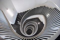 Herzstück des Hauses Union: Die charakteristische Treppe, die endlos nach unten... (Bild: Urs Bucher - 21. August 2019)