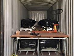 In einem Container mit Elektromotoren hat der neuseeländische Zoll 469 Kilo Cristal Meth entdeckt. Es ist der bislang grösste Fund dieser Droge. (Bild: KEYSTONE/AP NZ CUSTOMS)