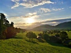 Wunderschöne Morgenstimmung über der Naturlandschaft mit Blick auf die Rigi. Bild: Urs Gutfleisch (Malters, 5. September 2019)