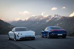 Porsche Taycan Turbo S und Taycan Turbo. (Bild: Porsche)