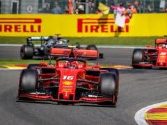 Charles Leclerc (Nummer 16) vor Sebastian Vettel: Zuletzt war das mehrheitlich der Fall (Bild: KEYSTONE/EPA/STEPHANIE LECOCQ)
