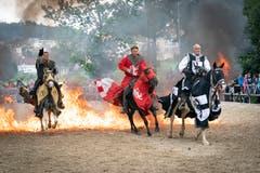 Das Turnier der «Ritter der schwarzen Lanze» ist einer der Höhepunkte des Hof-Spektakels in Wil. (Bild: Ralph Ribi)