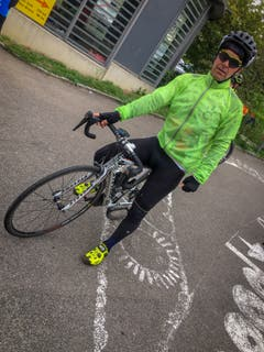 Mark Graf bei Kilometer 70. (Bild: Raphael Rohner)