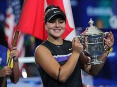 Erstes US Open, erster Final, erster Grand-Slam-Titel: Bianca Andreescu eroberte New York im Sturm (Bild: KEYSTONE/AP/CHARLES KRUPA)