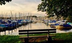 Abendstimmung am Bootshafen. (Bild: Daniela Hofer, Luzern, 7. September 2019)