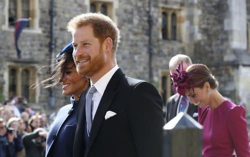 Prinz Harry and Meghan, Duchess of Sussex. (Bild: Gareth Fuller/Pool via AP (Windsor, 12. Oktober 2018))