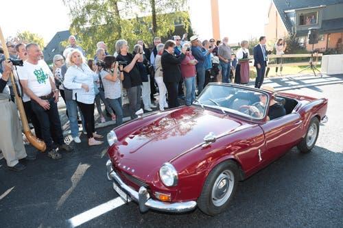 Liebhaber alter Autos kommen auf ihre Kosten. (Bild: Roger Zbinden (Walchwil, 13. Oktober 2018))