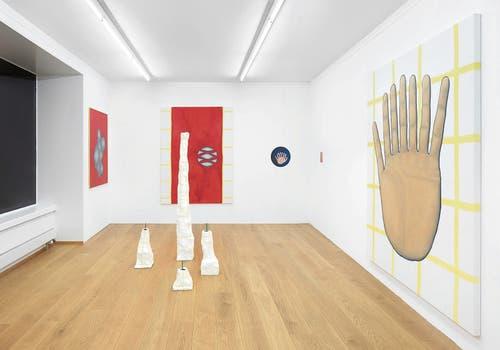 Blick in Christian Rothmalers Ausstellung in der Galerie Kirchgasse. (Bilder: Alex Kern)