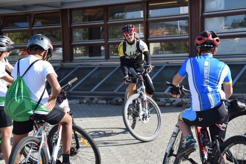 Auch die Mountainbiker sind gesattelt und unterwegs.