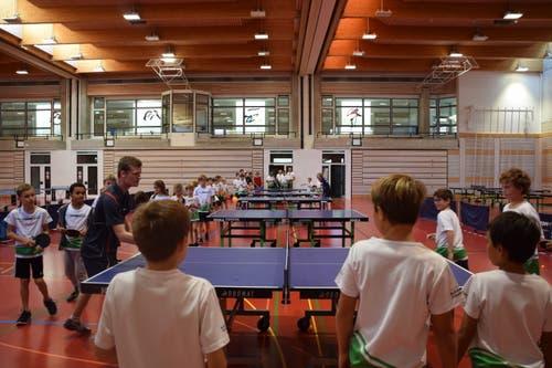 Der Aufmarsch ist auch bei den diesjährigen Jugend Games gross – nicht nur im Tischtennis.