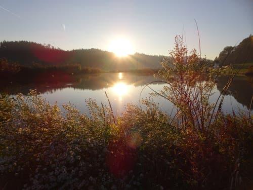 Kurz vor dem Sonnenuntergang. (Bild: Heidi Bucher (Willisau, 11. Oktober 2018))