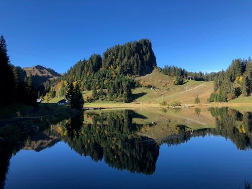 Seeblisee im Wander- und Skiparadies Hoch-Ybrig. (Bild: Esther Straub (12. Oktober 2018))