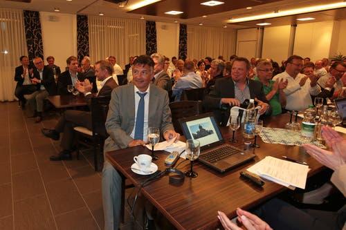 Die FDP Nidwalden nominiert Hans Wicki einstimmig für den Ständerat. (Bild: Roger Zbinden (Oberdorf, 23. April 2015))