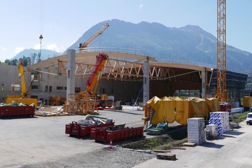 Holzbau-Dachkonstruktion im Sektor 2 am 17. September 2018. (Bild: PD)