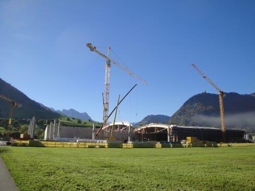 Holzbau-Dachkonstruktion im Sektor 4 am 19. Oktober 2018. (Bild: PD)