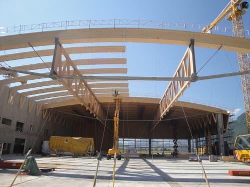 Holzbau-Dachkonstruktion im Sektor 2 am 18. September 2018. (Bild: PD)