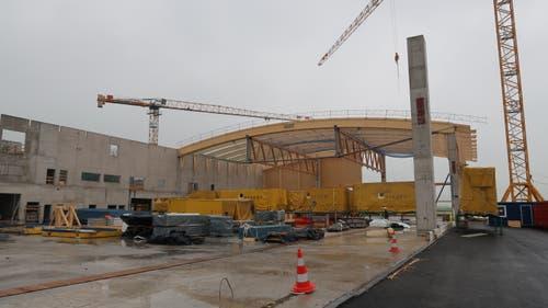 Holzbau-Dachkonstruktion im Sektor 1 am 31. August 2018. (Bild: PD)