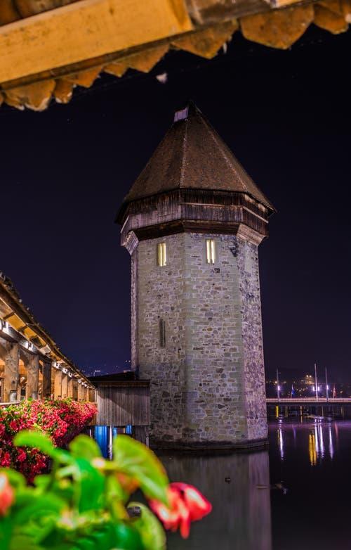 Der Wasserturm in Luzern. (Bild: René Burch, Luzern, 18. Oktober 2018))