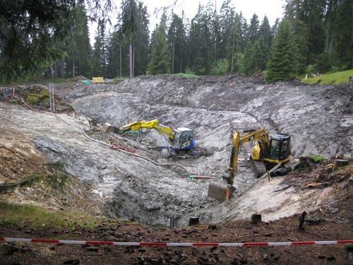Trinkwasserversorgung Sarnen. Sanierung der Quellfassung Gerenstock am 7. September 2013. (Bild: PD)