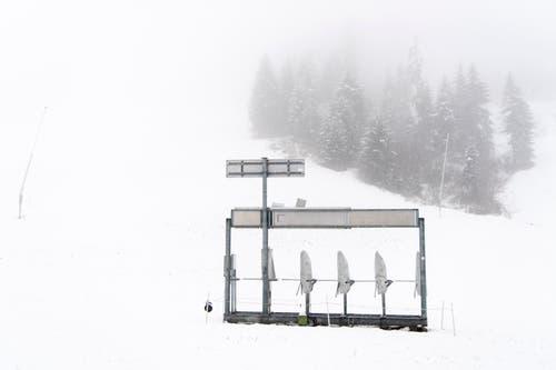 Bald werden hier wieder Schneesportler in Aktion sein. (Bild: Anthony Anex/Keystone (Adelboden, 28. Oktober 2018))