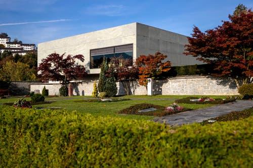 Das Krematorium in Luzern liegt gleich beim Friedhof Friedental. (Bild: Philipp Schmidli, Luzern, 16. Oktober 2018)