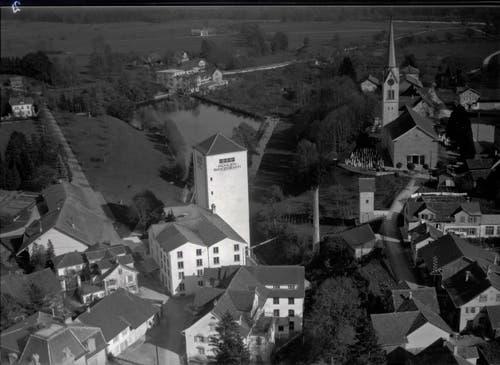 Die Eberle Mühle im Oktober 1931. (Bild: ETH-Bibliothek Zürich, Bildarchiv)