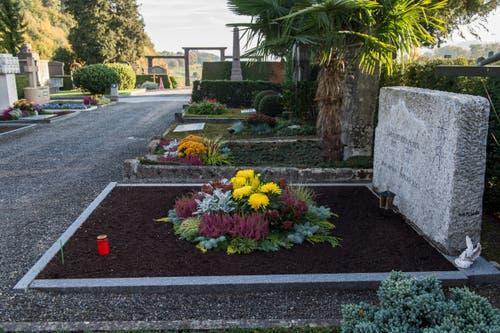Die Gärtnerei Heini betreut 1700 Gräber auf dem Friedhof Friedental. (Bild: Dominik Wunderli, Luzern, 25. Oktober 2018)