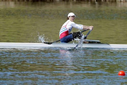 Das älteste Bild in unserem Archiv: Mario Gyr 2004 auf dem Rotsee.