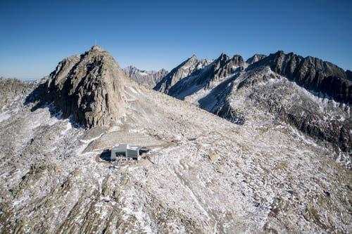 Die Bergstation von oben. (Bild: Urs Flüeler/Keystone (Oberalppass, 4. Oktober 2018))