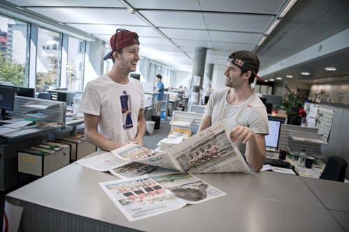 Zu Besuch auf unserer Redaktion (Bild: Pius Amrein (Luzern, 24. August 2018))