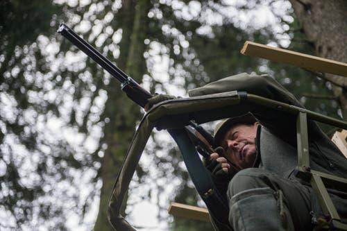Ins Visier hat er an diesem Morgen nichts genommen: Jäger Peter Küenzi.