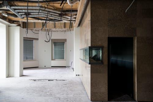 Der Umbau des Palace hat begonnen. (Bild: Manuela Jans (Luzern, 5. Oktober 2018))
