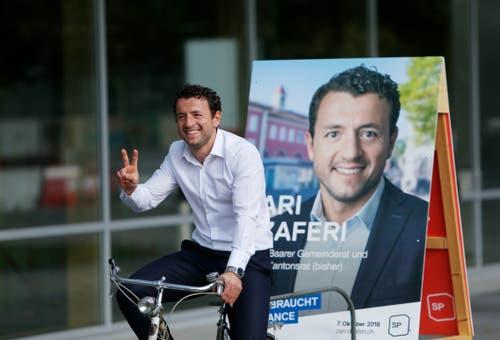 Auch in Baar wurde gewählt: Zari Dzaferi von der SP hat die Wahl in den Gemeinderat geschafft. (Bild: Stefan Kaiser (Zug, 7.Oktober 2018))