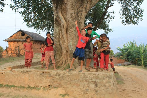 Die Kinder freuen sich. (Bild: PD)